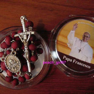 Accessories - CATHOLIC ROSE PETALS ROSARY BEADS POPE FRANCIS NEW